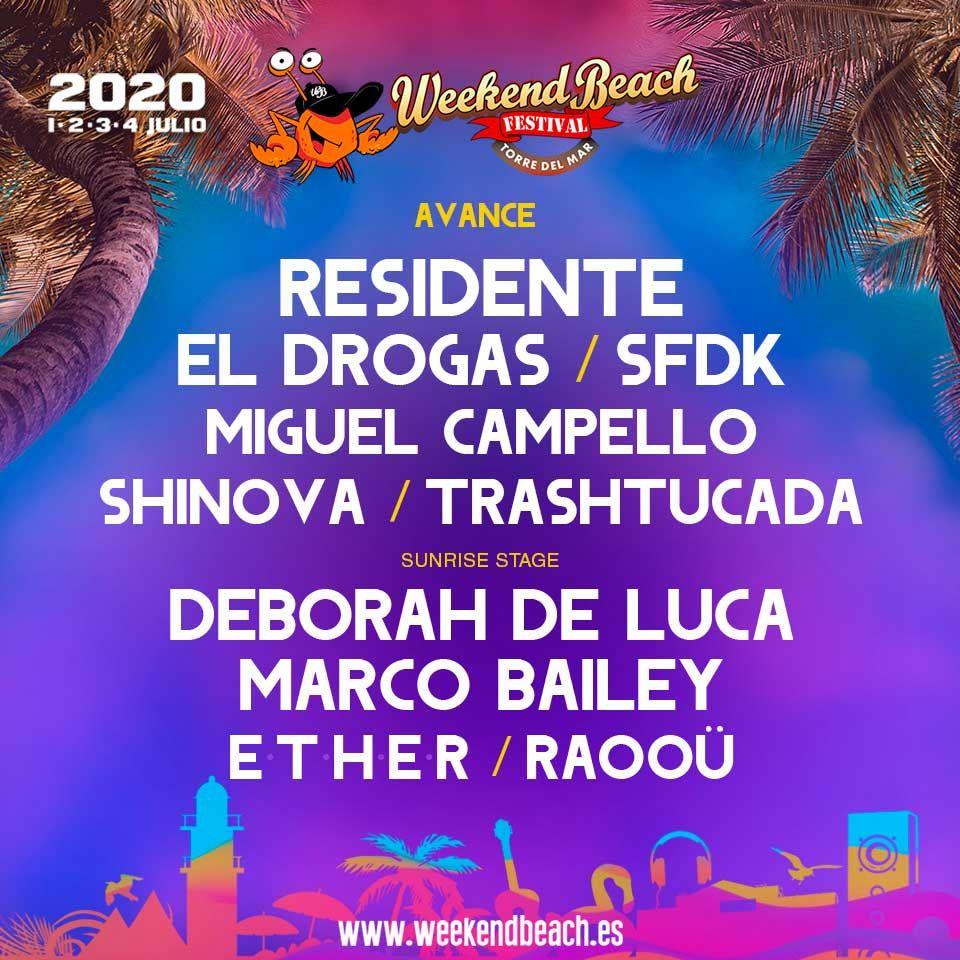 ¡Primer avance del Weekend Beach! El festival de Torre del Mar nos trae novedades @weekendbeachfestival #weekendbeach2020 #soyweeker